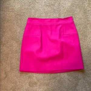 Jcrew pink wool pencil skirt.